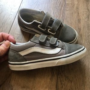 vans old skool charcoal grey toddler size 10
